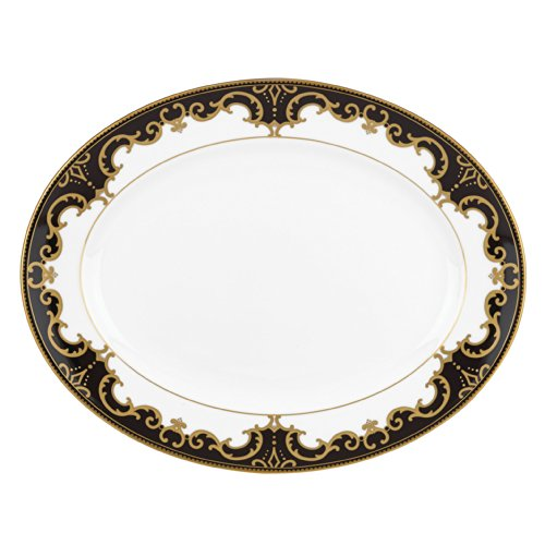 Lenox Marchesa Couture Night Oval Platter, Baroque