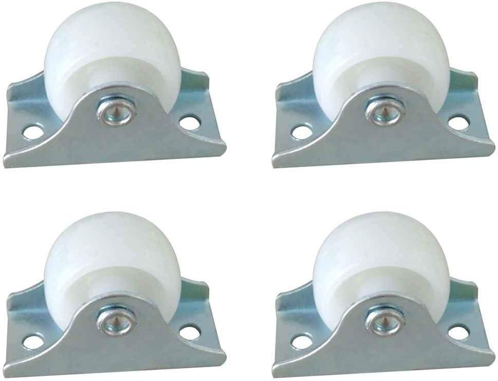 Uokoki 4 Unid/Set Plástico 25mm Diámetro Muebles Reemplazo Rueda Rueda Orientación Cajón Rueda Rueda