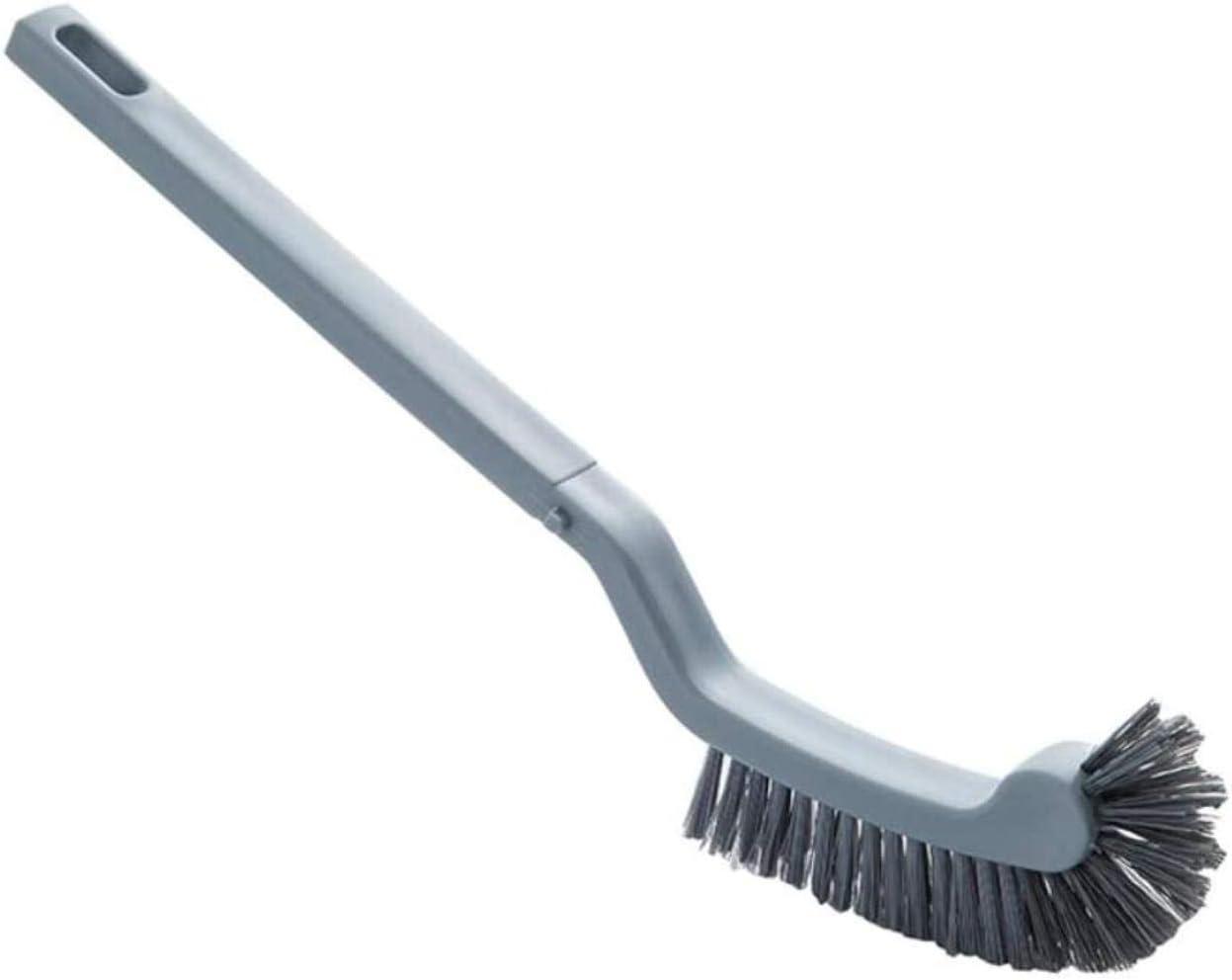 Cepillo Curvo Cabeza con Inodoro sin ángulo Mort Curvado de Barras for la Limpieza de inodoros, Mango Largo Cepillo de baño de plástico, Color: Blanco (Color : Noir)