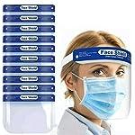 SB-Sicherheits-Gesichtsschutz-vollstndiger-Schutz-breites-Visier-resistent-Anti-Beschlag-Glas-leicht-verstellbar-transparent-Unisex-20-Stck
