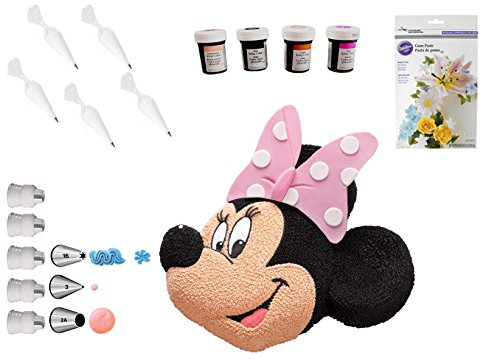 Wilton Disney Minnie Mouse Cake Pan Bundle of 19 Items -