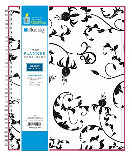 "Blue Sky 2018 Weekly & Monthly Planner, Twin-Wire Binding, 8.5"" x 11"", Analeis - 102478"