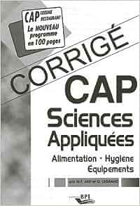 Sciences appliqu es cap alimentation hygi ne for Sciences appliquees cap cuisine
