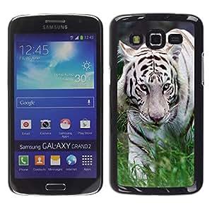 - Whit Tiger - - Caja del tel???¡¯????fono delgado Guardia Armor FOR Samsung Galaxy Grand 2 Devil Case