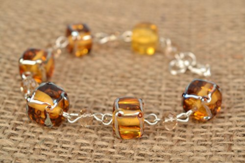 - Lampwork Glass Bracelet With Crystals