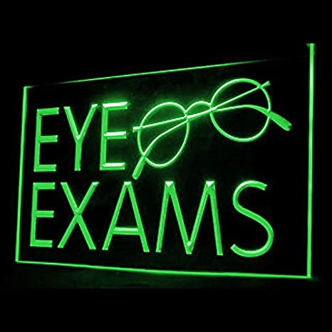 190057 Eye Exams Glasses Comprehensive Regular Healthy Optical LED Light Sign