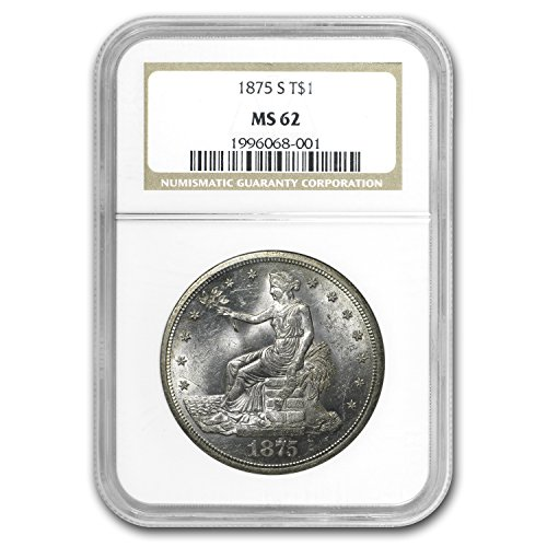 1875 S Trade Dollar MS-62 NGC $1 MS-62 NGC
