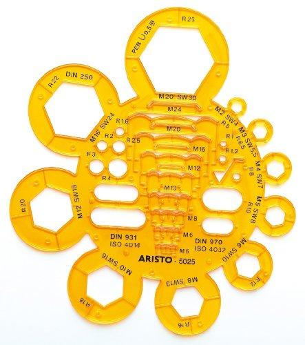 Aristo AH5025 Radius and Nut Template