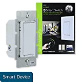 GE Z-Wave Plus Smart Lighting Control Light Switch, Paddle, On/Off, In-Wall, White & Light Almond Paddles, Repeater & Range Extender, Zwave Hub Required- Works with SmartThings Wink and Alexa, 14291