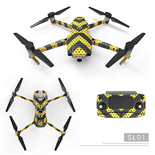 RCstyle Waterproof 3M Material Decorative Sticker Decal Skin Wrap Cover Kit Compatible with DJI Mavic 2 Pro/Zoom Drone