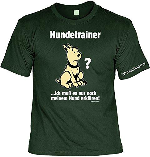 T-Shirt mit Wunschname - Hundetrainer - Lustiges Sprüche Shirt als Geschenk für Hunde Fans
