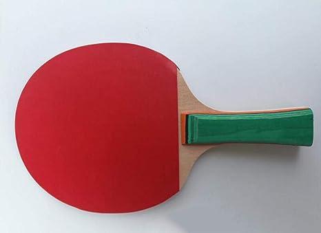 QKDSA Juego de Tenis de Mesa, Agarre Corto, Mango de Agarre Largo, Juego de 2 Jugadores (2 murciélagos y 3 Pelotas), Raqueta de Tenis de Mesa Profesional, Adecuado para Principiantes: Amazon.es: Deportes