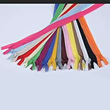 WKXFJJWZC 17 pcs Nylon Invisible Thin Yarn Zippers Tailor Sewing Tools 22inch Zipper 17color