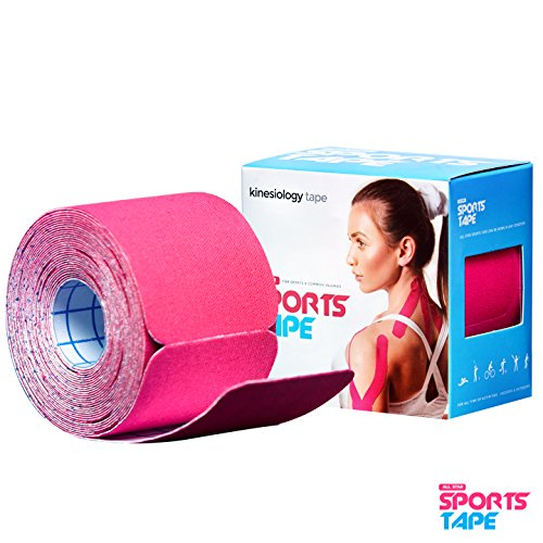 ALL STAR Sports Tape- Pink -Kinesiology Athletic Tape -LATEX FREE- 20 Precut Strips Tape Roll (10 in X 2 In)