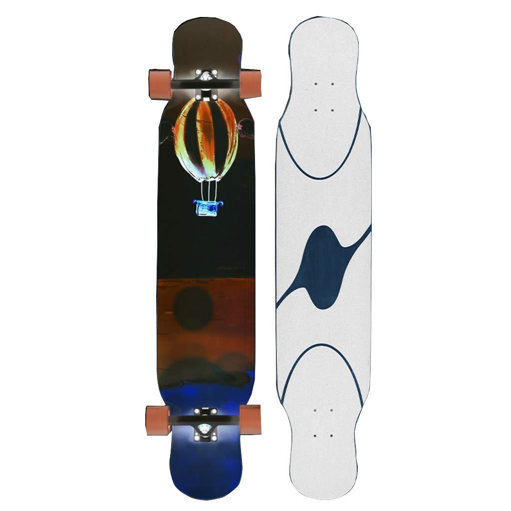 【受注生産品】 ロングボードスケートボード46インチロングデッキメープルダンスロングボード大人用、ティーン向け B07R1JHRMN #1、初心者向けデザイン、子供向けの最高の贈り物です。 #1 B07R1JHRMN, カミノカワマチ:5a5c1898 --- domaska.lt