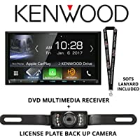 Kenwood DDX9904S In Dash DVD CD 6.95 Touchscreen Display, Built in Bluetooth, HD Radio with Universal License Plate Style Backup Camera and a FREE SOTS Lanyard