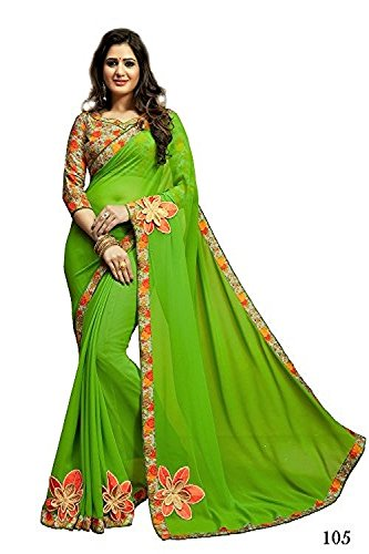 099f634b176d10 Image Unavailable. Image not available for. Colour  Craftsvilla Women s  Georgette Saree With Blouse Piece ...