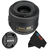Nikon 35mm f/1.8G AF-S DX Lens + PixiBytes Exclusive Microfiber Cleaning Cloth