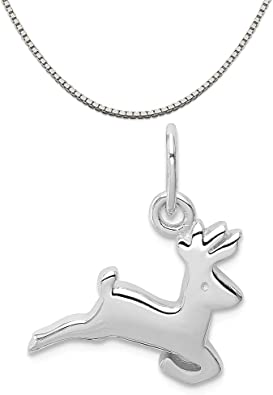 Mireval Sterling Silver Daughter Charm on a Sterling Silver Chain Necklace 16-20