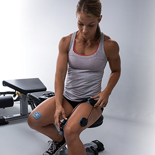 Compex Wireless USA Black Muscle Stimulator Bundle Kit: Muscle Stim, 24 Snap Electrodes, 9 Programs, Wireless PODs, Charge Station / 4 strength, 2 warm-up, 3 recovery