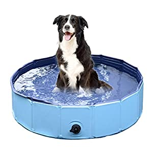 Jasonwell Foldable Dog Pet Bath Pool Collapsible Dog Pet Pool Bathing Tub Kiddie Pool for Dogs Cats and Kids 11