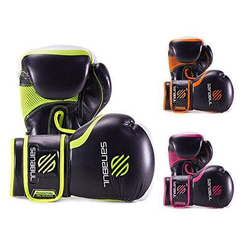 ESSENTIAL BOXING GLOVES GREEN 16-OZ
