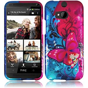 ToPerk Graphic Design Hard Cover Case For HTC One 2 / M8 (Include a Cystore ? Stylus Pen) - Butterfly Bliss