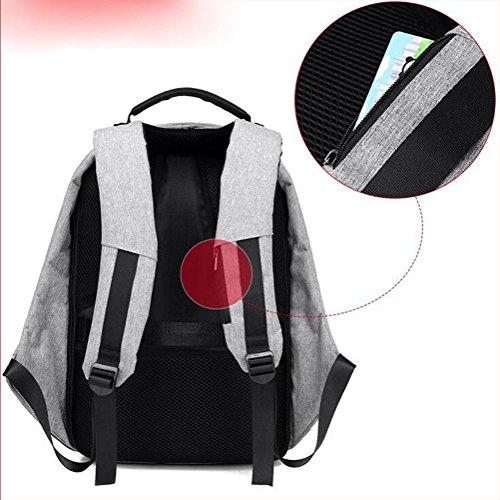 theft bag Smart purple shoulder cloth USB travel Business Oxford Anti bag HxxTIqCfw