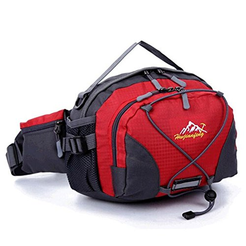 Wmshpeds Varios bolsillos funcionales macho montando un paquete ejecutando hervidor de nylon bolsa de deportes al aire libre B