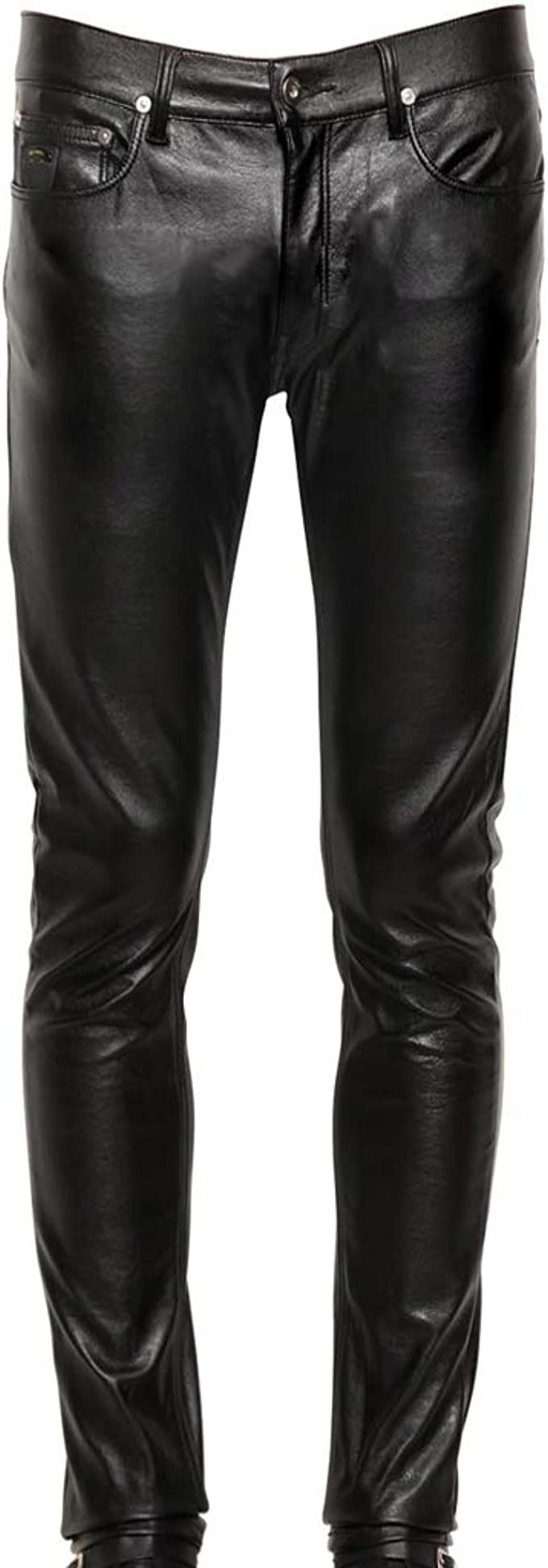 Koza Leathers Mens Leather Pant Trouser Genuine Lambskin Real Leather Casual Pant