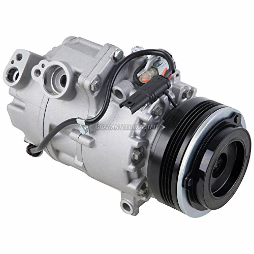 (AC Compressor & 4-Groove A/C Clutch For BMW X5 3.0L 6-Cyl 2007 2008 2009 2010 w/Automatic Climate Control - BuyAutoParts 60-03025NA NEW)