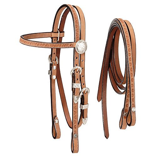 Tough-1 Mini Roughout Headstall with Reins (Mini Horse Reins)