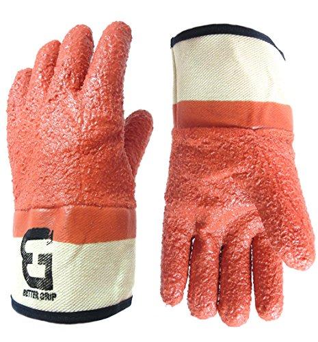 Better Grip BG23173 Premium Raised Finish Monkey Grip Jersey Glove, Vinyl Coating, Safety Cuff, One Size (12 (Grip Jersey)