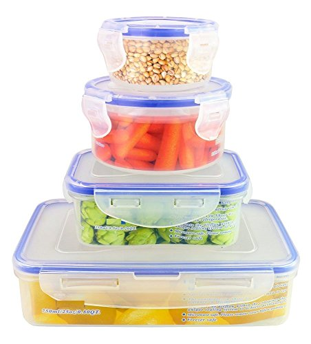 ChefLand 8 Piece Plastic Containers Assorted