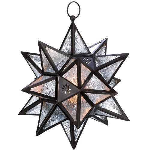 Hanging Multi-Point Star Candle Lantern