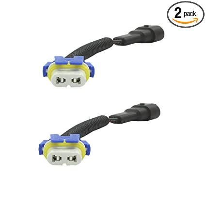 HALOYiVGO 9006 HB4 9012 Heavy Duty Ceramic Extension Wiring Harness Male  and Female Connector Pigtail Sockets Adapter For Headlight Fog Light (2Pcs)