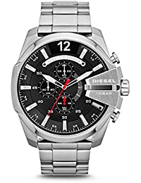 Mega Chief Silver Stainless Steel Quartz Black Dial Men's Watch DZ4308