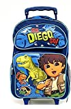 """Go Diego 16"""" Rolling Backpack and Cap ~ By Nickelodeon ~"""