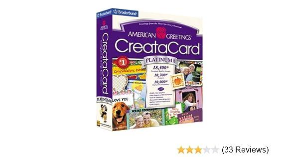 Amazon american greetings creatacard platinum 8 old version m4hsunfo