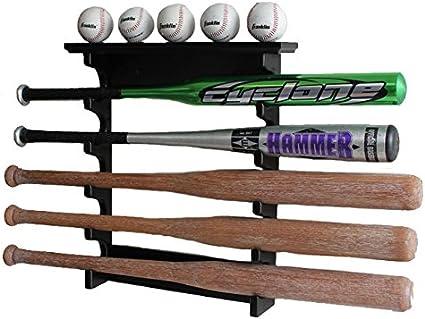 Single  BASEBALL BAT DISPLAY HOLDER RACK WALL MOUNT HOLDS 1 BASEBALL BAT