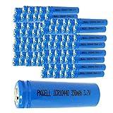AAA ICR 10440 3.7V Rechargeable Lithium Li-ion Battery Botton Top 100pcs