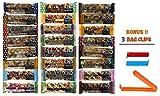 Cheap Kind Bar Variety Pack, 24 Pack Sampler, 24 Different Flavors, 1.4 Oz Bars (Bonus!! 3 Bag Seal Clips Free)