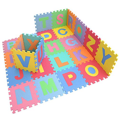 E Support New Fun Child Soft EVA Foam Play Mat Alphabet Fruits Animals Numbers GYM Puzzle DIY Toy floor Tile Game
