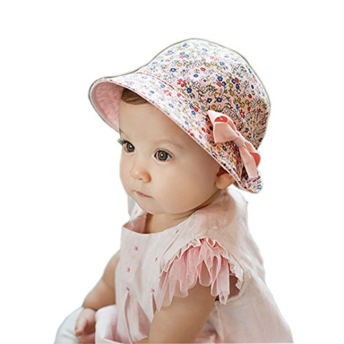Marca West Cute Double-sided Dual-use Detachable Butterfly Bow Bucket Cap Baby Hat