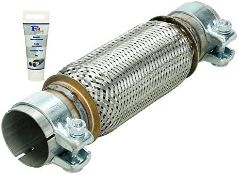 Flexrohr Flexstück flexibles Auspuff interlock  45x150//260 mm mit Anschlussrohr