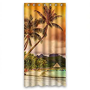 Custom Nature Tree Shower Curtain Polyester 90cm x 183cm