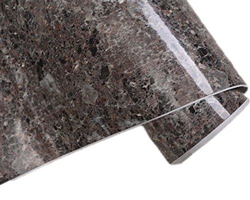 Brown Granite Look Marble Gloss Film Vinyl Self Adhesive