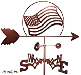 UNITED STATES OF AMERICAN FLAG GARDEN Stake Weathervane ~NEW~