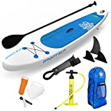 GREAT SUP Inflatable 12'7'' Explorer Stand Up Paddle Board (6'' Thick) with Adjustable Paddle/Travel backpack/Air Pump/Leash| Supports up to 380 Lbs.| Touring/Racing/Adventure/Recreation