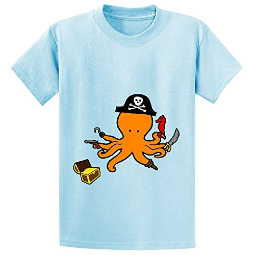 Sinestro Child Mask (octopus pirate cute Girls Crew Neck Cotton T Shirt L-blue)